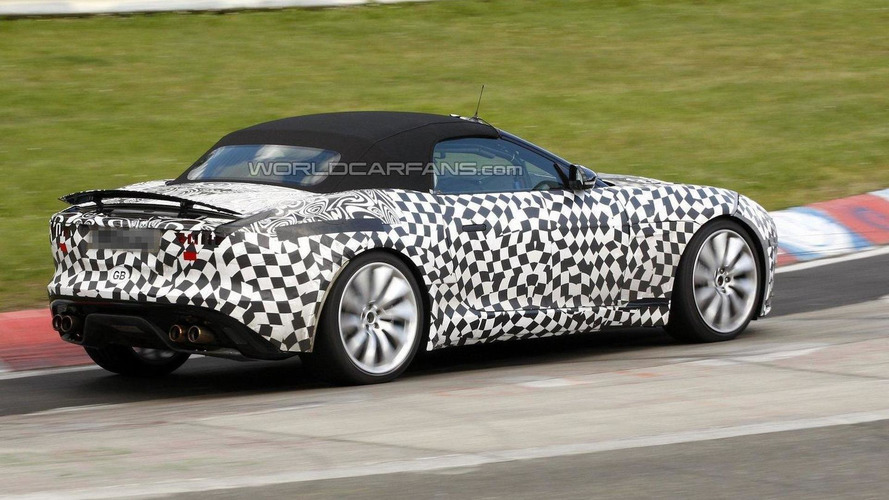 Jaguar F-Type R spied on Nurburgring [video]