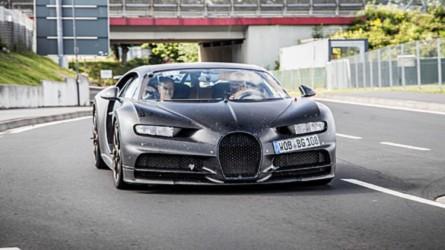 Un prototipo del Bugatti Chiron, cazado en Nürburgring... otra vez