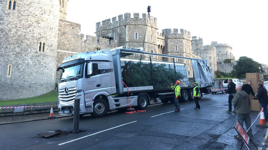 Mercedes delivers a royal Christmas tree