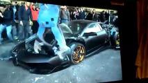 Lamborghini Murcielago Tayvan'da parçalandı