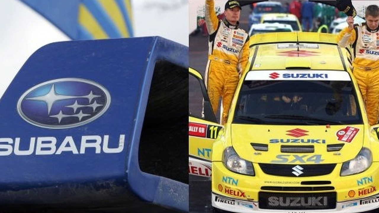 Suzuki and Subaru WRC 2008 collage