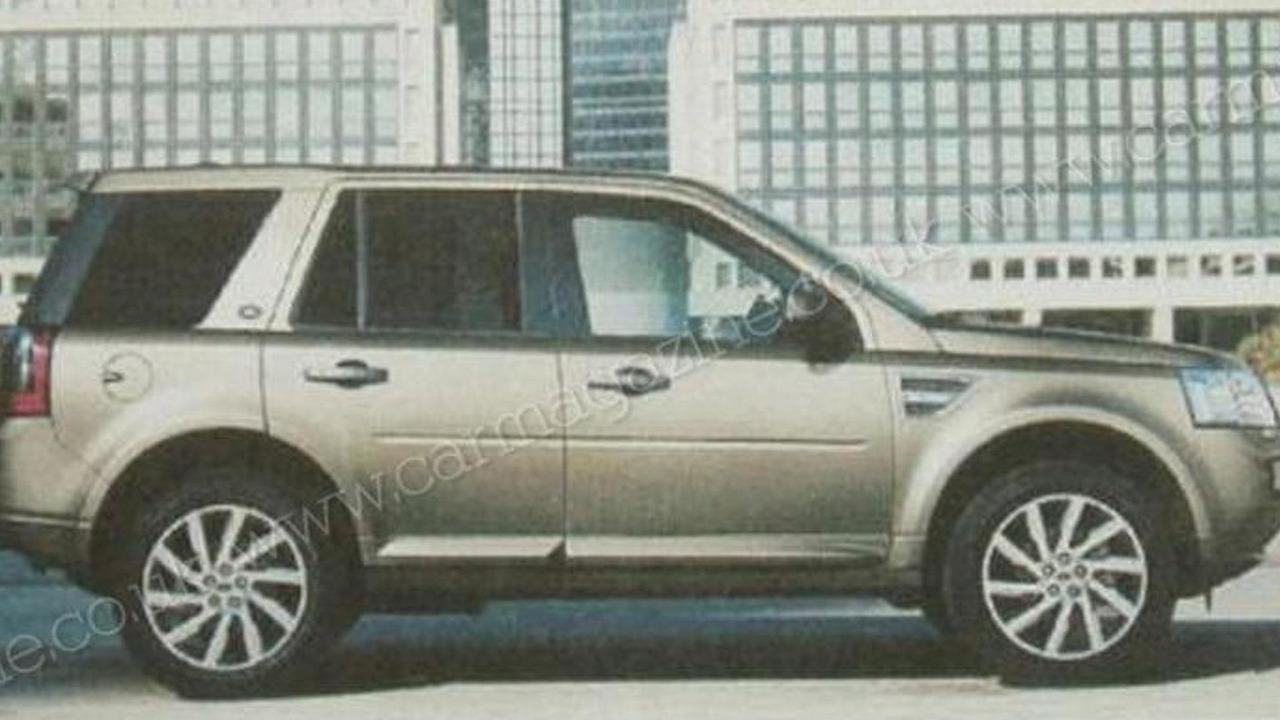 2011 Land Rover Freelander / LR2 facelift leaked brochure image