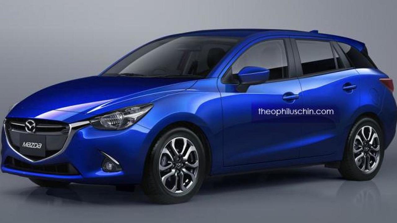 Mazda2 wagon render