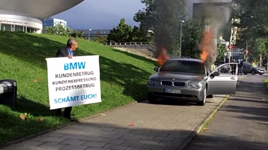 Angry BMW Owner Sets Car On Fire Outside Company's Munich HQ