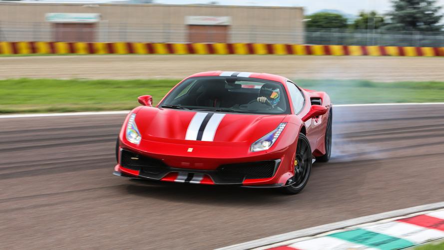 Ferrari 488 Pista, primera prueba en el circuito de Fiorano