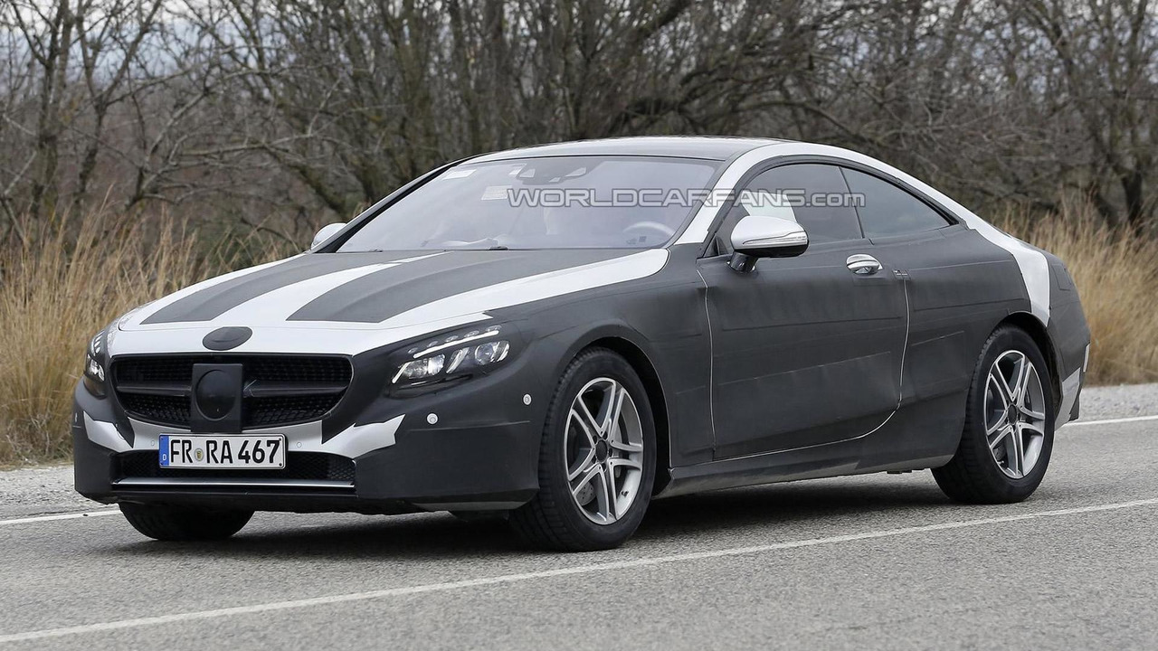 2014 mercedes benz s class coupe spied in four different for What are the different classes of mercedes benz cars