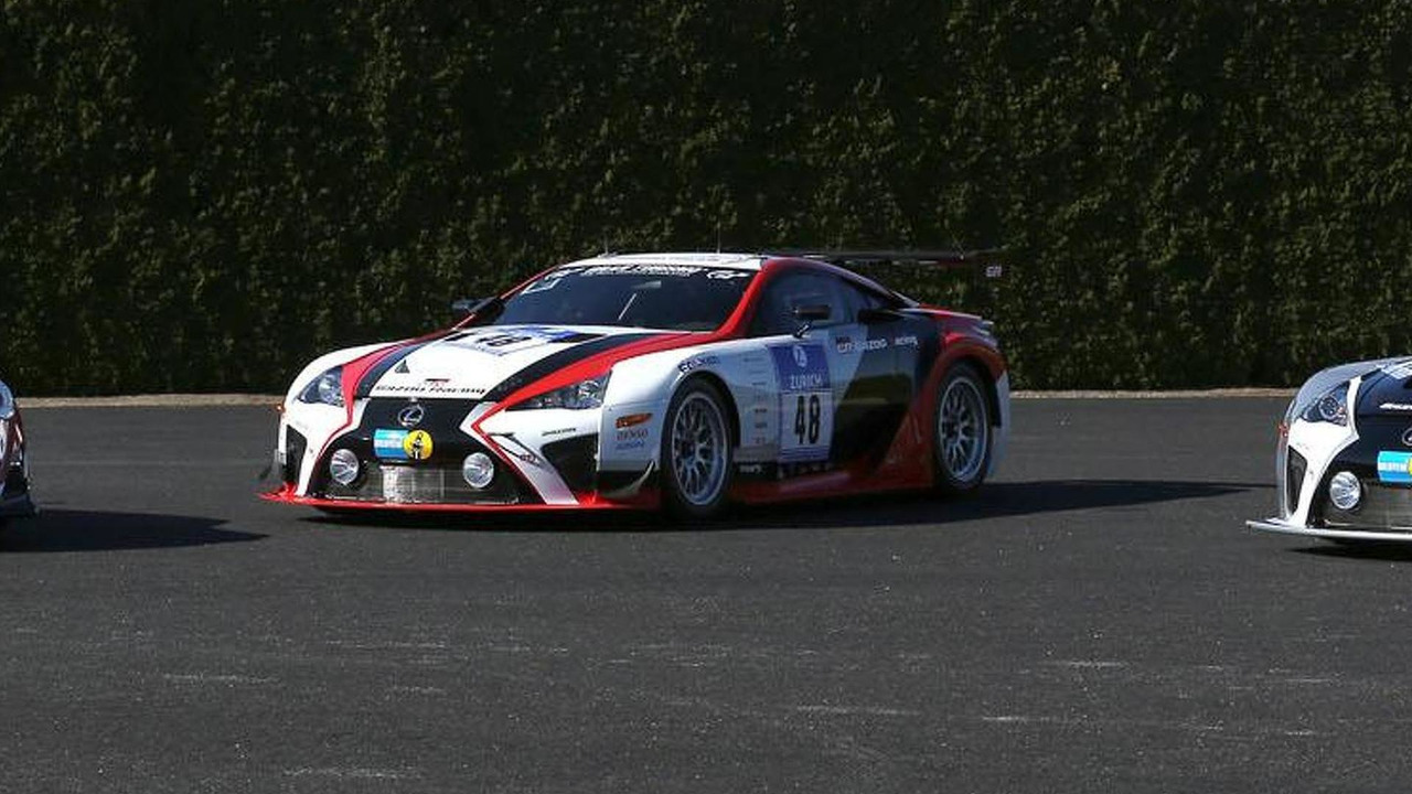 Gazoo Racing lineup for the Lexus Nürburgring 24 Hour endurance race
