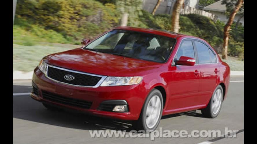 Salão de Nova York 2008: Kia apresenta versão renovada do sedan Optima