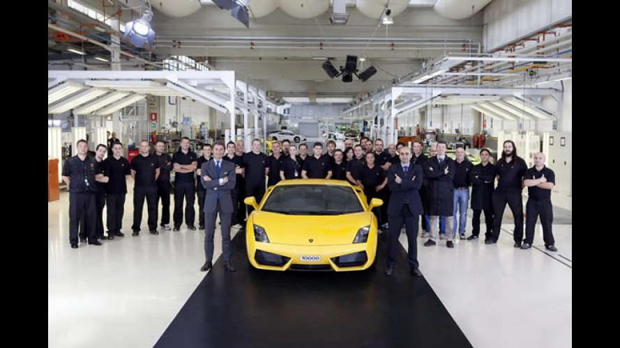 Lamborghini comemora a produção de 10 mil unidades do Gallardo