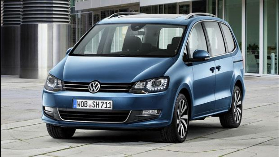 Volkswagen Sharan restyling, più efficiente e sempre connessa