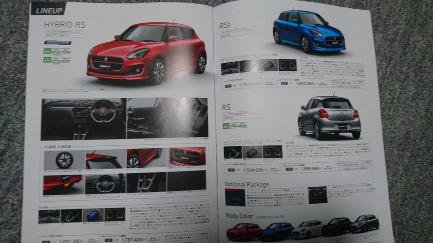 2017 Suzuki Swift leaked again in brochure images