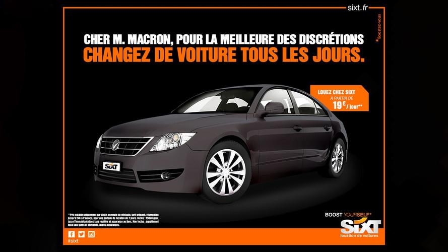 Sixt s'offre Emmanuel Macron dans sa dernière campagne de pub
