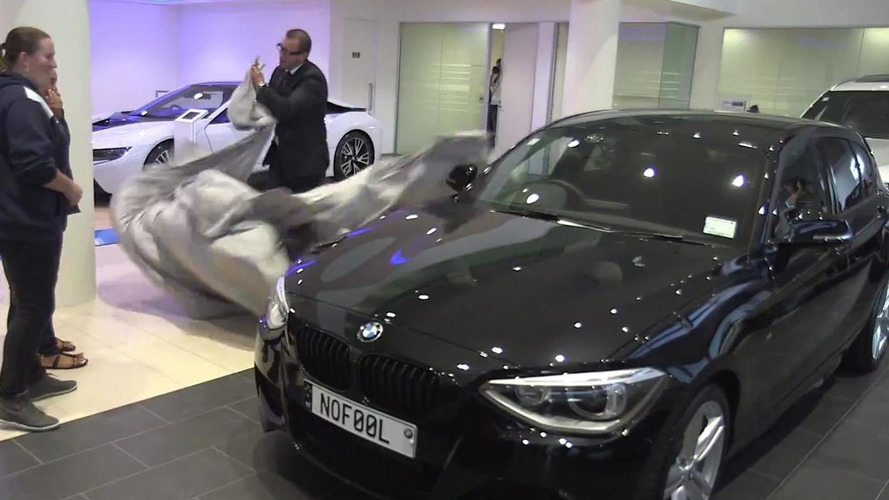 No April Fools' Day joke: BMW replaces woman's 15-year old Nissan with new 1-Series [video]