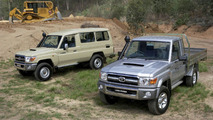 2007 Toyota LandCruiser 70 Series: (L-R) LC78 Troop Carrier GXL and LC79 Cab Chassis GXL