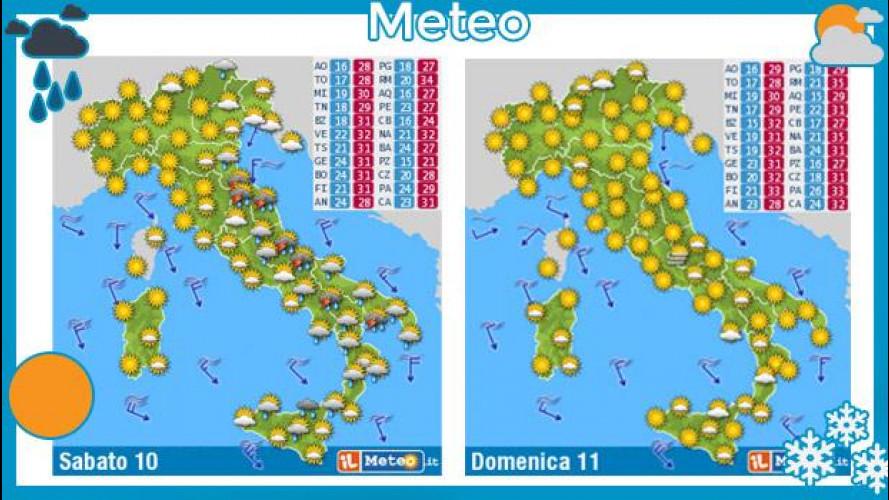 Meteo del fine settimana 10 e 11 agosto: cessa il caldo intenso