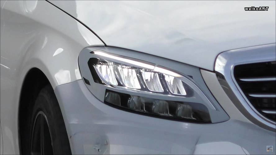 Mercedes C-Class Spied Featuring Sophisticated New LED Headlights