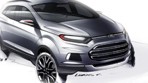 Ford EcoSport compact SUV revealed - debut in New Delhi [video]
