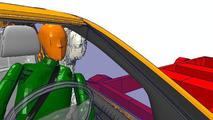 Mercedes-Benz A-Class side impact illustration