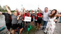 The McLaren raft team celebrate victory, Eric Boullier, Racing Director, McLaren