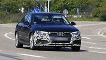 Audi A4 Sedan facelift spy photos