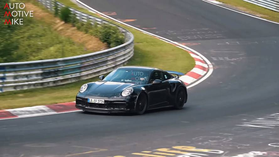 2020 Porsche 911 Turbo Caught On Video Hustling Around The 'Ring