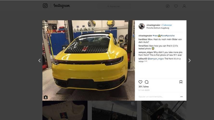 La future Porsche 911 a pris la fuite sur internet