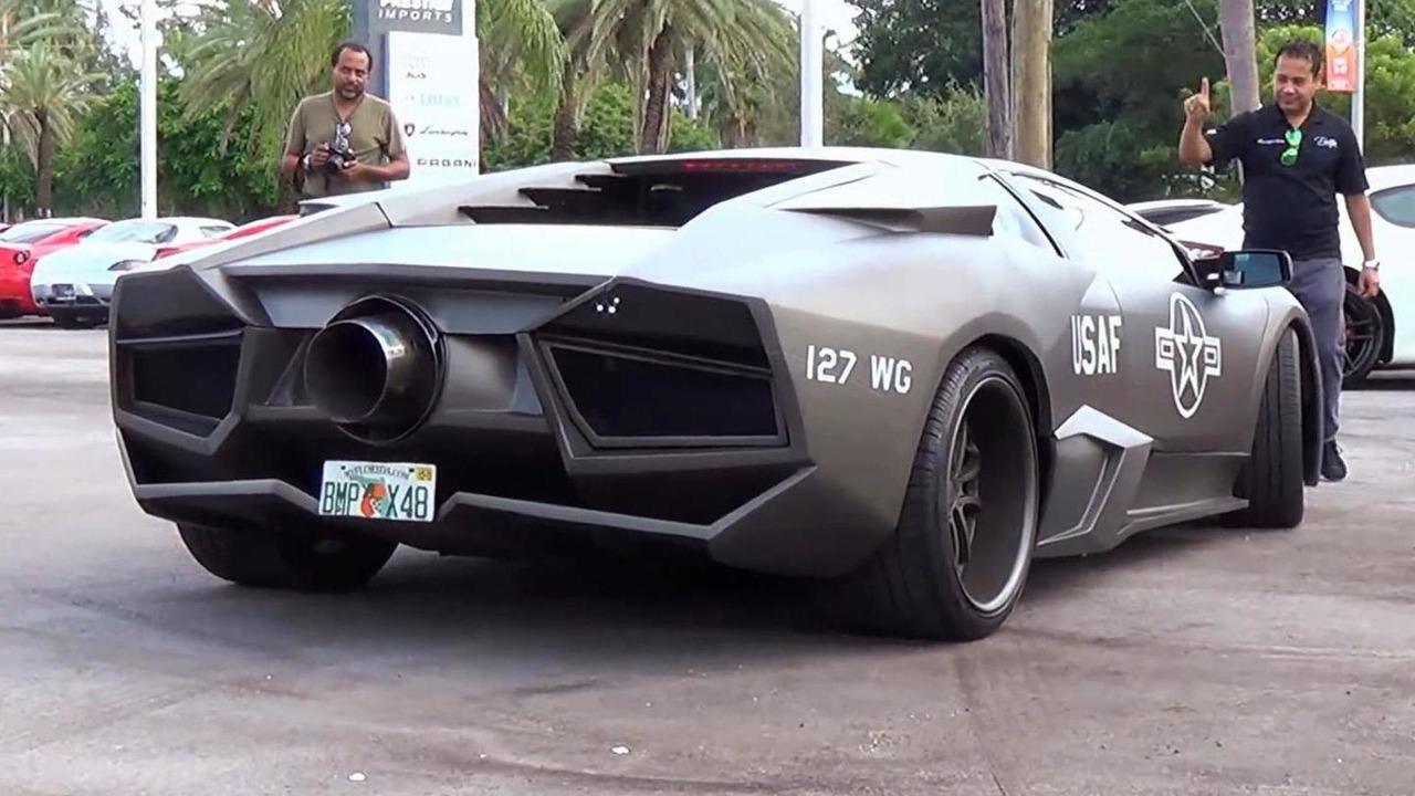 Lamborghini Murcielago gets Reventon body kit and Top Gun theme