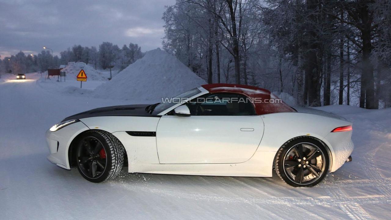 Jaguar F-Type four-cylinder spy photo