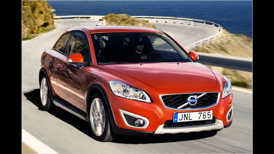 Volvo C30 mit Facelift: Neue Front und orangefarbene Sitze