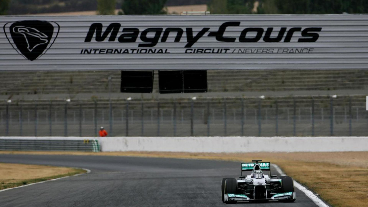 Sam Bird, test driver, Mercedes AMG F1 12.09.2012 Formula One Young Drivers Test, Magny-Cours, France
