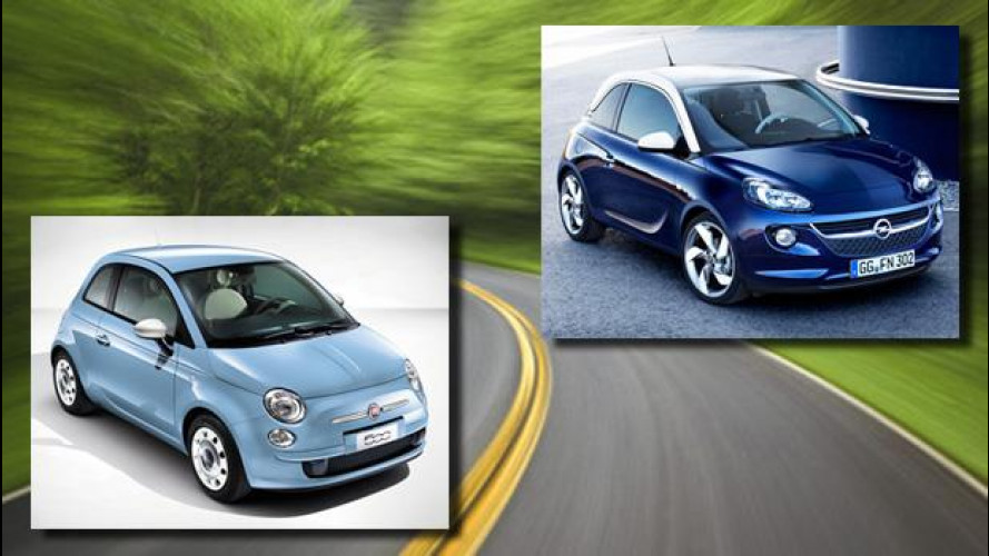 Opel Adam vs Fiat 500: sfida fra simili