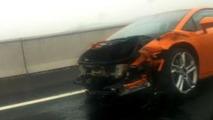 Crashed Lamborghini Gallardo in China