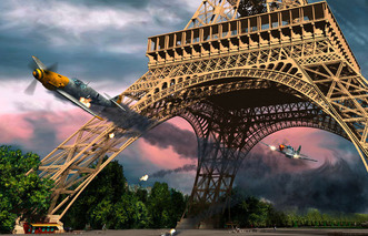 The American Pilot Who Chased a German Fighter Under the Eiffel Tower