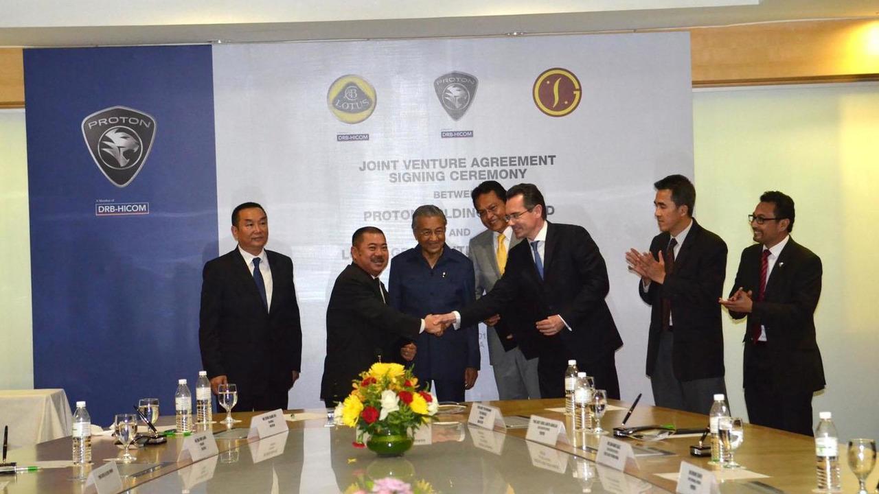Lotus joint-venture announcement