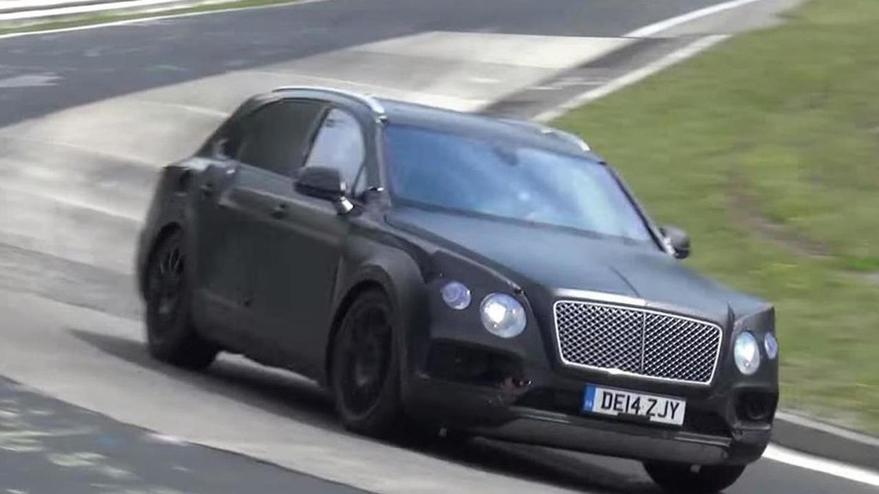 Bentley Bentayga screenshot from spy video