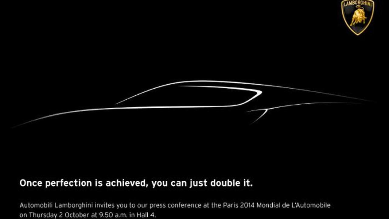 Lamborghini teaser image for Paris Motor Show