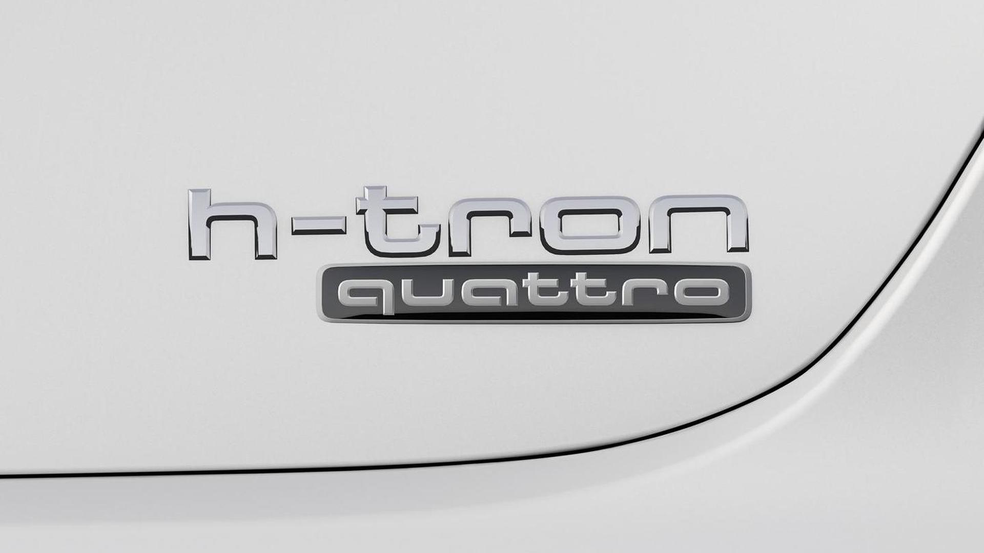 Надпись h-tron quattro на крышке багажника Audi A7
