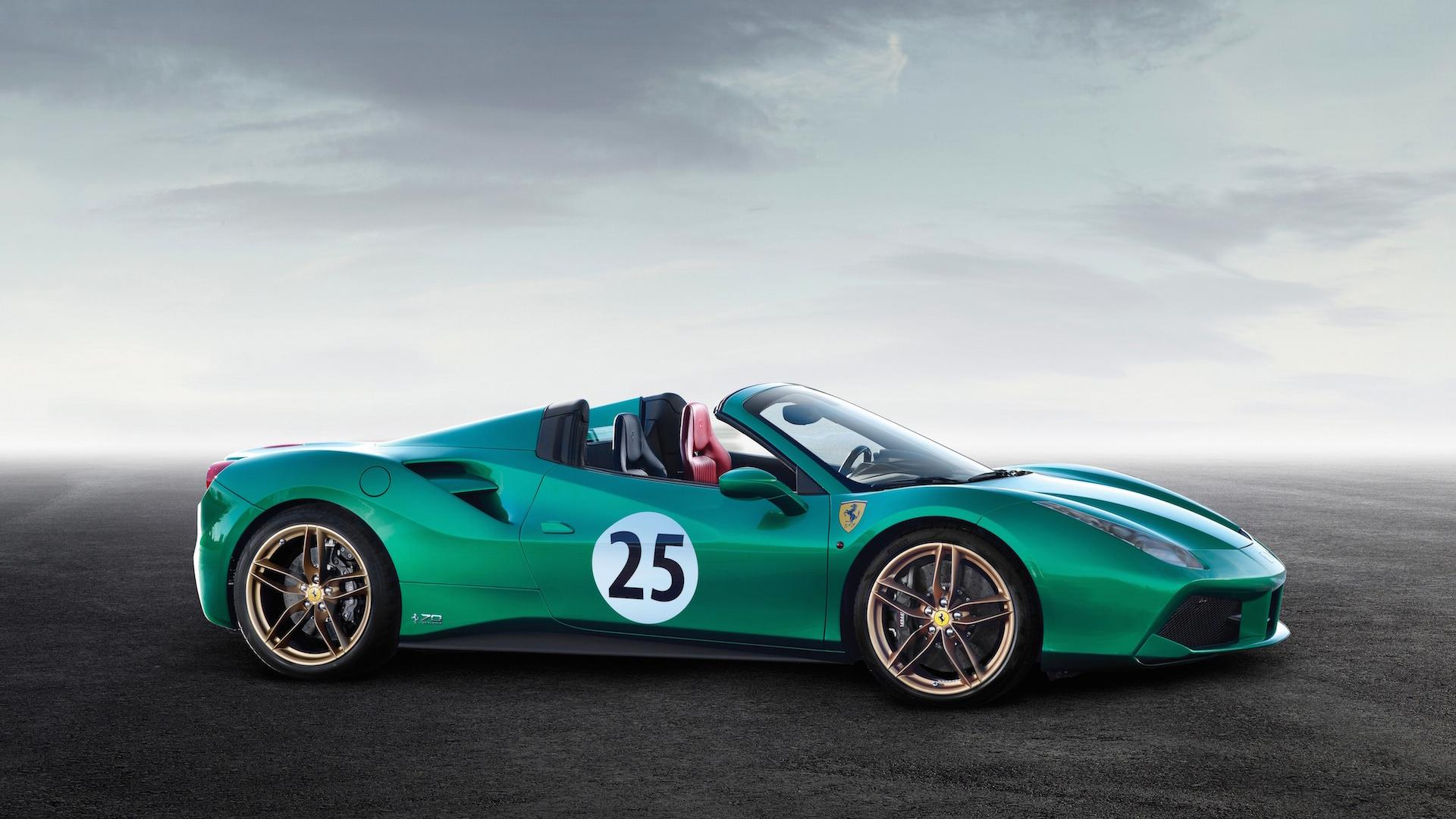 ferrari 488 spider 39 green jewel 39 sells for a whopping 1 3m update. Black Bedroom Furniture Sets. Home Design Ideas