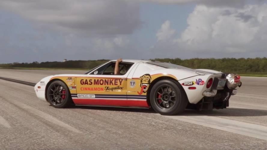 Modifiyeli Ford GT 470 km/s hızı gördü