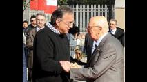 Giorgio Napolitano visita il Lingotto e il Museo dell'Auto di Torino