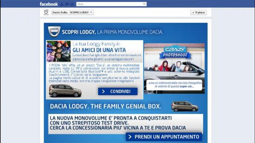 Dacia Lodgy è protagonista di un gioco su Facebook