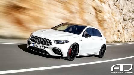 Vadonatúj motorral, összkerékhajtással és 400 lóerő fölötti teljesítménnyel jön az AMG A45