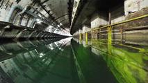 Land Rover Journey of Discovery in former Soviet submarine base, Ukraine 02.04.2012