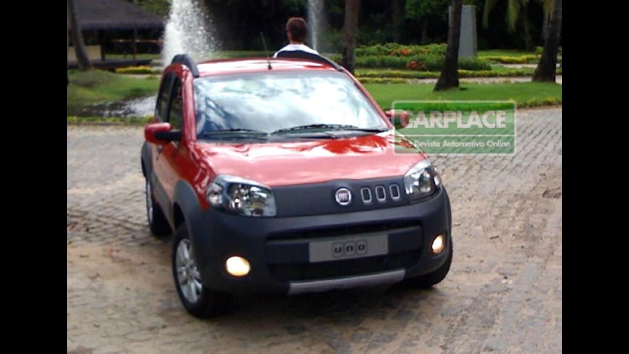 Novo Uno 2011 - Confira fotos exclusivas do modelo na Praia do Forte - Bahia