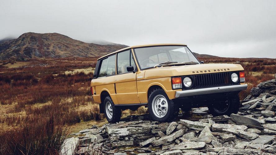 Range Rover 1978 é restaurado pela fábrica para venda