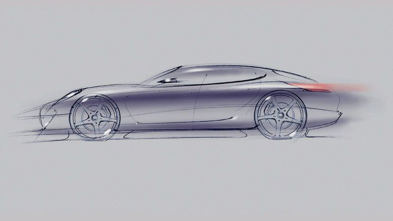 Porsche Panamera Sports Coupé design sketch