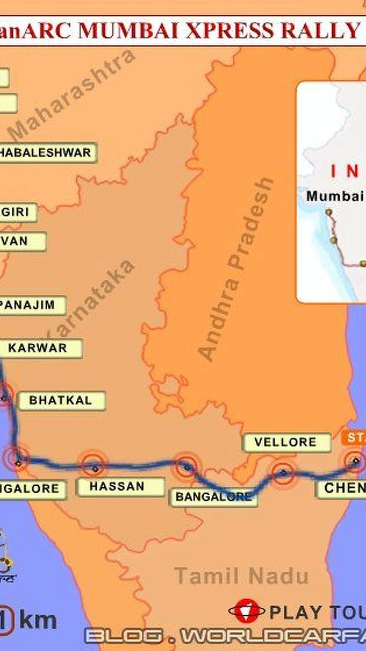 IndianARC Mumbai Xpress Rally Route