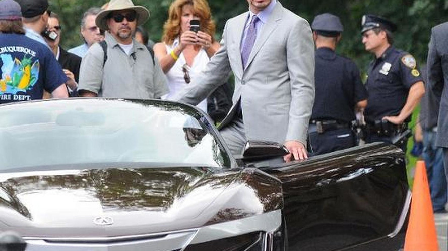 Tony Stark ditches the Audi R8 for an Acura roadster