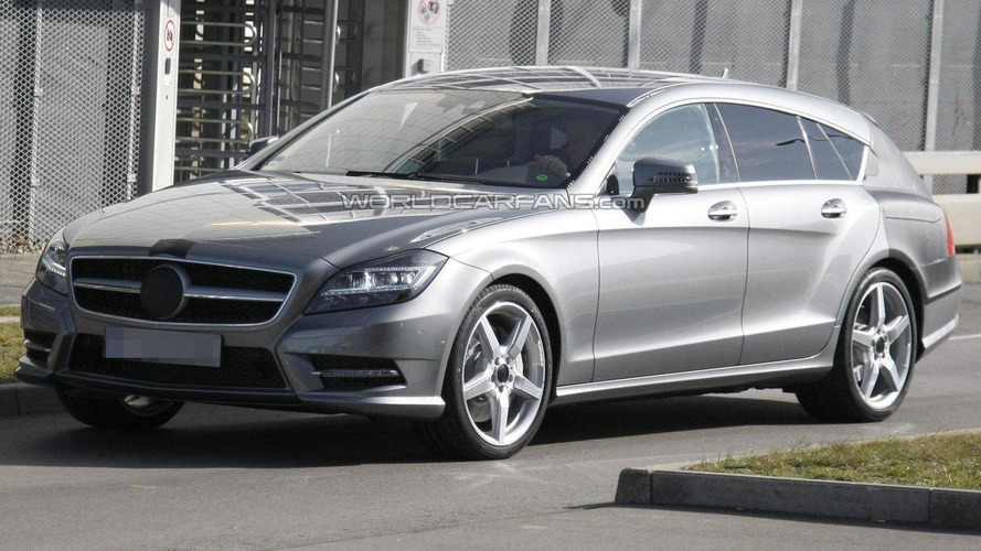 2012 Mercedes Benz CLS Shooting Brake spied for first time