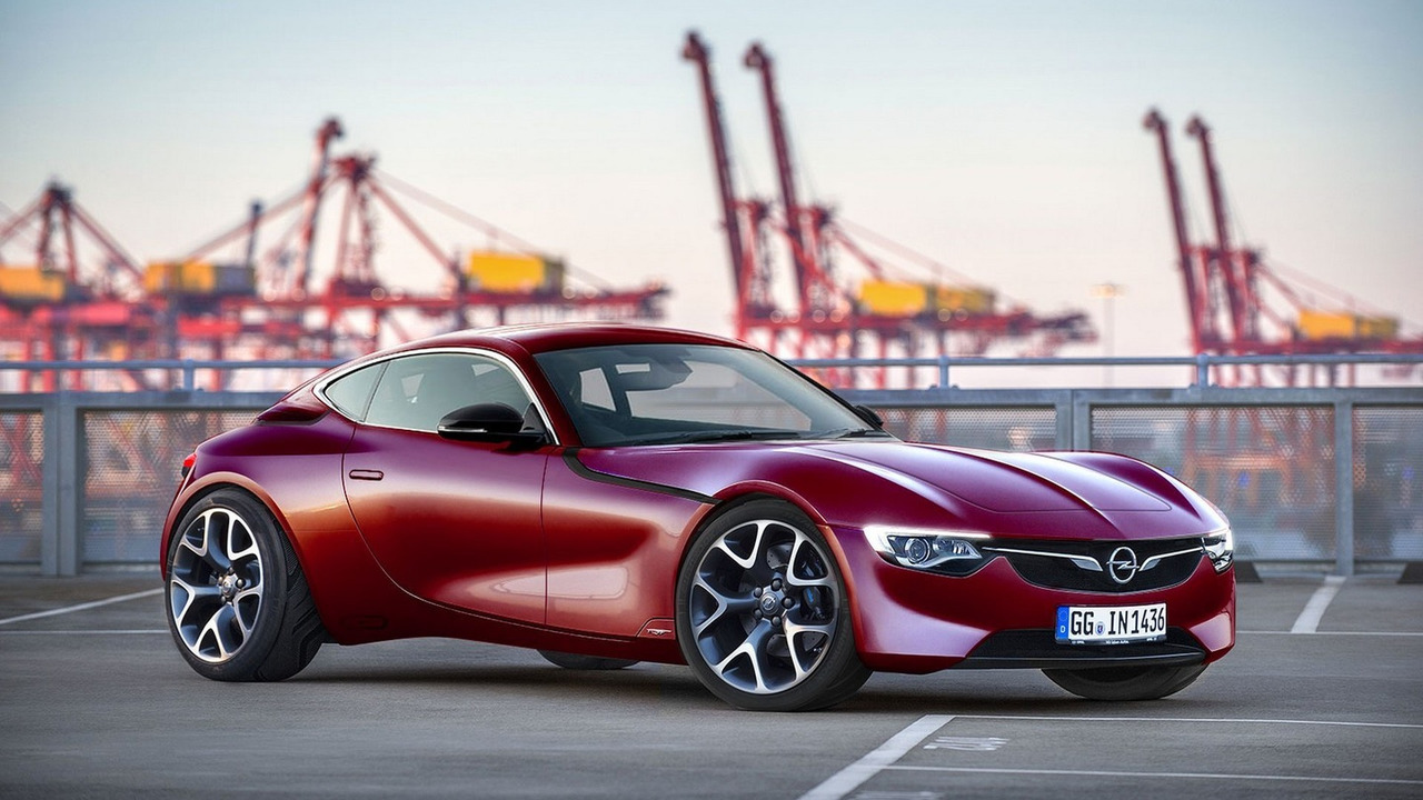 Production-ready Opel GT render